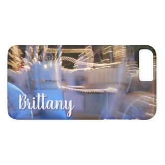 Van de de prinsesbus van Sparkly de gouden blauwe iPhone 8/7 Plus Hoesje