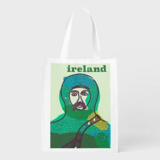 Van de de ridder vintage reis van Ierland het Herbruikbare Boodschappentas