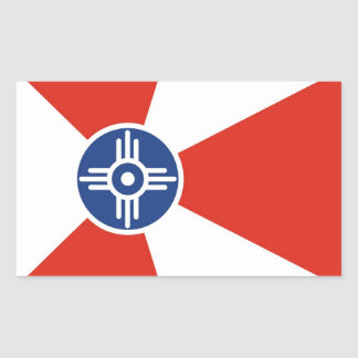 Van de de stadsvlag van Wichita het land van de Rechthoekige Sticker