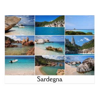 Van de de strandencollage van Sardinige de Briefkaart