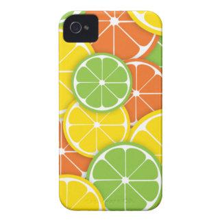 Van de de verbrijzelings sappige ronde citroen van iPhone 4 hoesje