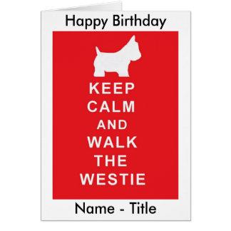 Van de de verjaardagskaart van Westie de Briefkaarten 0