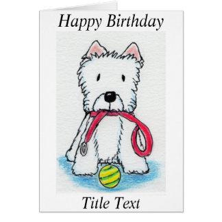 Van de de verjaardagskaart van Westie walkies de Kaart
