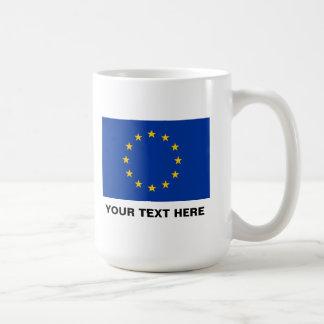 Van de de vlag grote koffie van de Europese Unie Koffiemok
