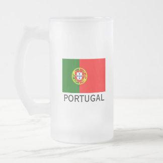 Van de de vlagdouane van Portugal van het het Matglas Bierpul