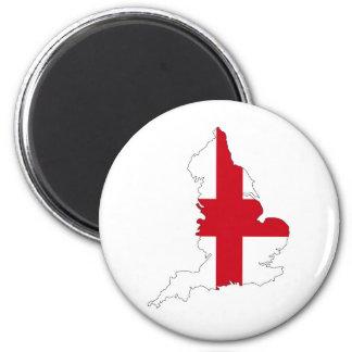 van de de vlagkaart van Engeland het landvorm van Magneet