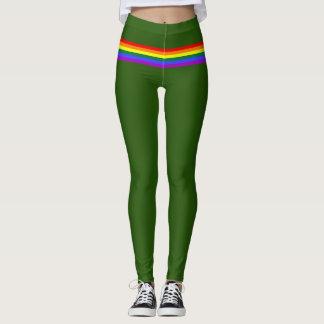 Van de de vlagregenboog van de trots groene het leggings