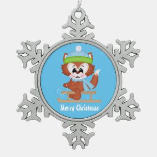Van de de vosVakantie van Kerstmis het ornament