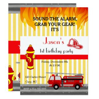 Van de de vrachtwagenverjaardag van de brand de kaart