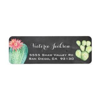 Van de de waterverfcactus van het bord het etiket