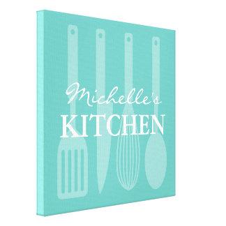 Van de de werktuigenmuur van de keuken het kokende canvas print