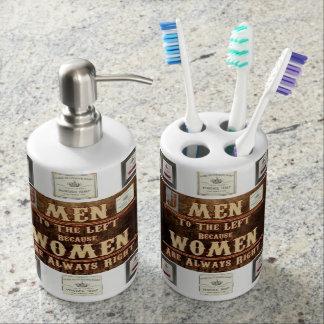 van de de zeepautomaat van de tandenborstelhouder