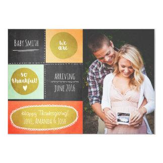 Van de de zwangerschapsaankondiging van de 12,7x17,8 uitnodiging kaart