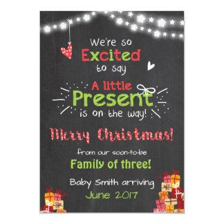 Van de de zwangerschapsaankondiging van Kerstmis 12,7x17,8 Uitnodiging Kaart
