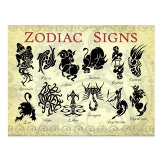 Van de dierenriem (de Astrologische) tekens Briefkaart