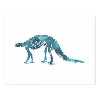 Van de dinosaurus (Scelidosaurus) het skelet Briefkaart