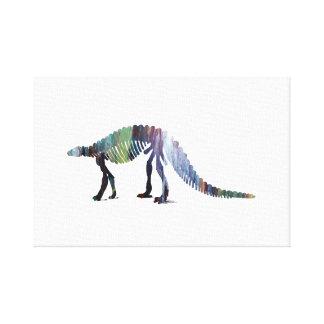 Van de dinosaurus (Scelidosaurus) het skelet Canvas Afdruk