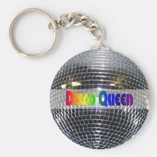 Van de disco de Glanzende Zilveren   Disco van Bal Sleutelhanger