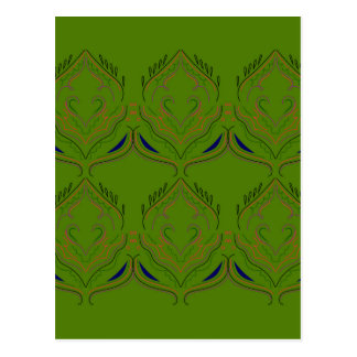Van de elementenethno van het ontwerp groene eco briefkaart