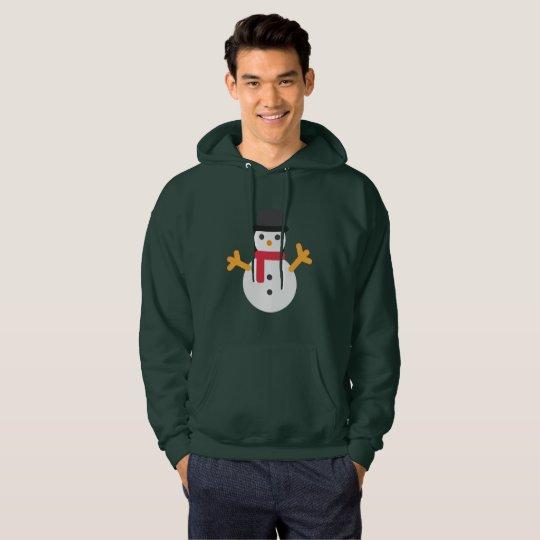 Van de emojisneeuwman van Kerstmis het mannen Hoodie