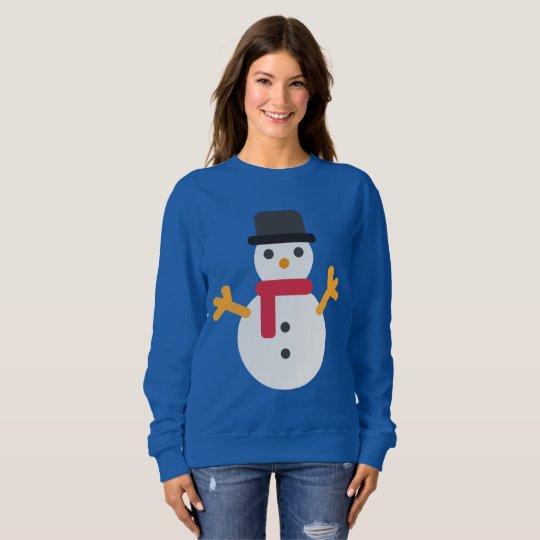 Van de emojisneeuwman van Kerstmis het sweatshirt