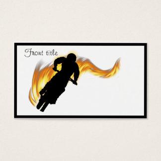 Van de Fiets van het Vuil van de Weg met Vlammen Visitekaartjes