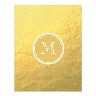 Van de Folie van de glamour Gouden Monogram Als Folder