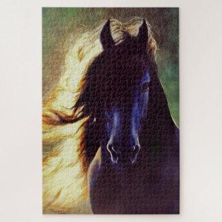 """Van de """"Friesian Gloed"""" het zwarte paard, hengst Puzzel"""
