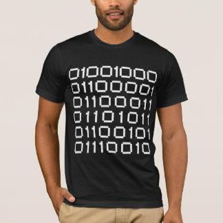 Van de hakker (in Binaire Vorm) Dark T Shirt