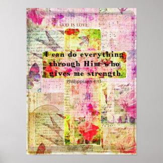Van de het 4:13BIJBEL van Philippians het citaat C Poster