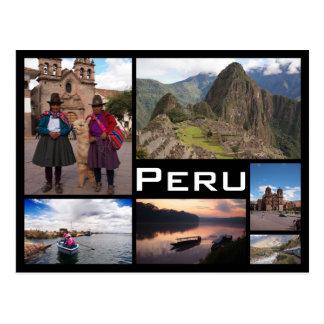 Van de het afbeeldingcollage van Peru veelvoudig Briefkaart