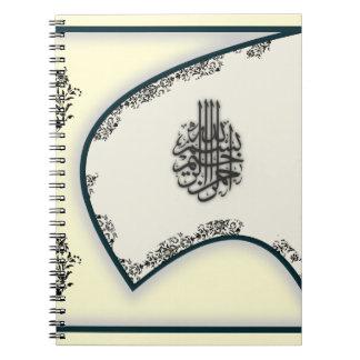 Van de het damastvalk van het mohammedanisme ringband notitieboek