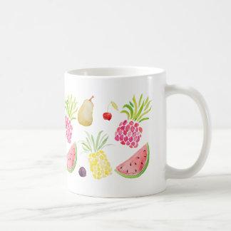Van de het fruitkers van de waterverf de koffiemok