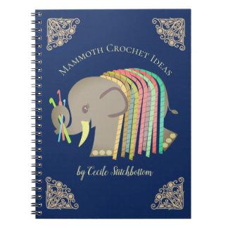Van de het garenolifant van haaknaalden het ringband notitieboek