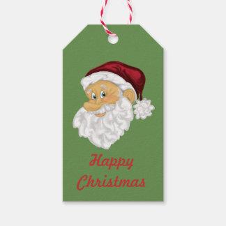 Van de het gezichtsdouane van de kerstman de cadeaulabel