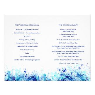 Van de het graskunst van de waterverf het blauwe folder