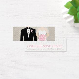 Van de het huwelijks vrije wijn van de bruid en mini visitekaartjes
