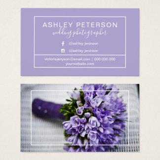 Van de het huwelijksfotograaf van de lavendel het visitekaartjes