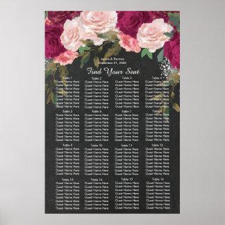 van de het huwelijksplaatsing van Bourgondië roze Poster