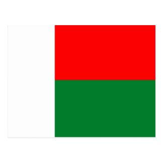 Van de het land lange vlag van Madagascar republi Briefkaart