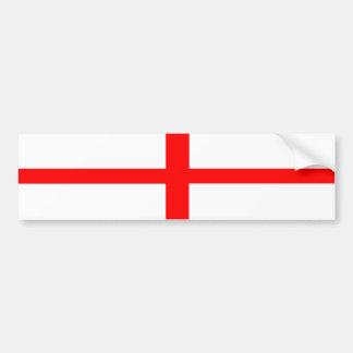 van de het landvlag van Engeland tekst van de het Bumpersticker