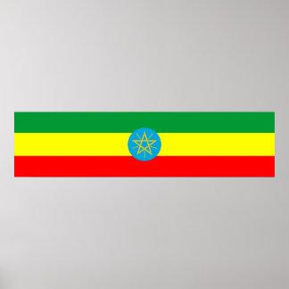 van de het landvlag van Ethiopië het lange symbool Poster