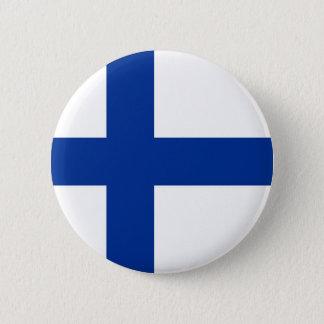 van de het landvlag van Finland het lange symbool Ronde Button 5,7 Cm