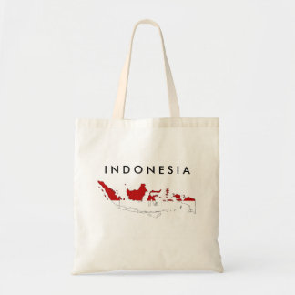 Van de het landvlag van Indonesië het silhouet van Budget Draagtas