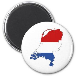 van de het landvlag van Nederland de kaartvorm het Magneet