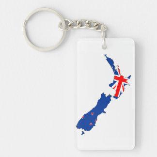 van de het landvlag van Nieuw Zeeland het symbool 1-Zijde Rechthoekige Acryl Sleutelhanger