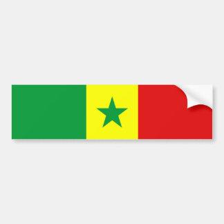 van de het landvlag van Senegal de natiesymbool Bumpersticker