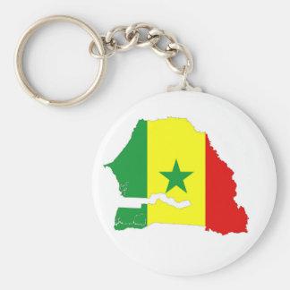 van de het landvlag van Senegal het silhouet van Sleutelhanger
