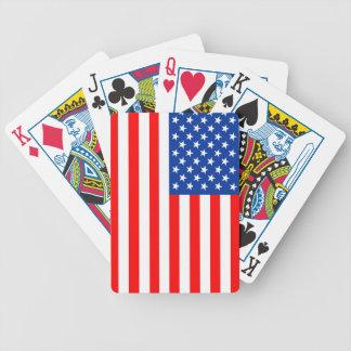 van de het landvlag van Verenigde Staten Amerika Pak Kaarten