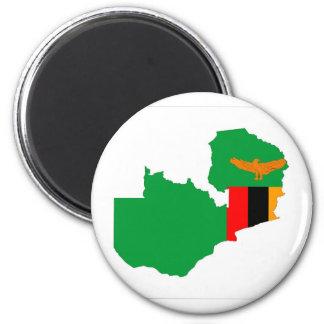 van de het landvlag van Zambia het symbool van de Ronde Magneet 5,7 Cm